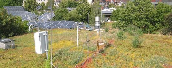 Messgeräte auf dem Gründach