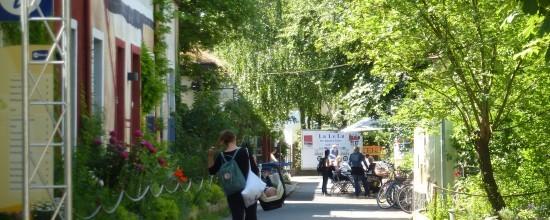 Blick auf die Hauptstraße der ufaFabrik