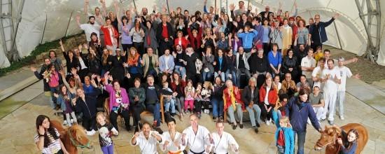 Die große ufaFabrik Familie im Sommer 2014